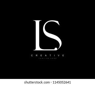LS Letter Linked Luxury Premium Logo