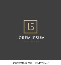 LS. Monogram of Two letters L & S. Luxury, simple, stylish and elegant LS logo design. Vector illustration template.