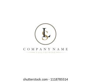 LS SL Inside Circle Shape Elegant Logo
