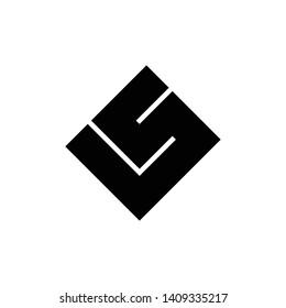LS square logo design vector
