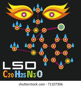 The  LSD molecule, stylized