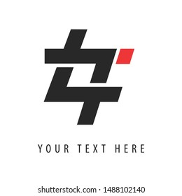 """LT Frame Logo Template, which combines the letters """"L"""" and """"T""""."""