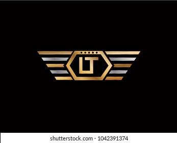 LT Hexagon Shape Letter design