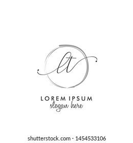 LT Initial beauty monogram logo vector