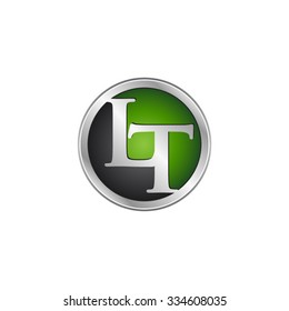 LT initial circle logo green