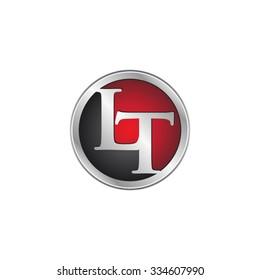 LT initial circle logo red