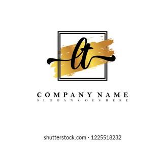 LT Initial handwriting logo concept