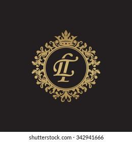 LT initial luxury ornament monogram logo