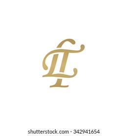 LT initial monogram logo