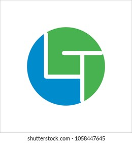 LT L T alphabet company letter logo design vector icon template simple circle dot dots creative abstract