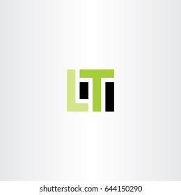 lt letter l t logo icon vector design