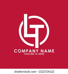 LT logo design vector template. Creative and minimalist template. Vector EPS 10.