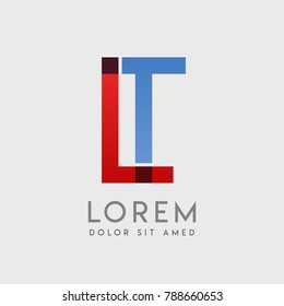 """LT logo letters with """"blue and red"""" gradation"""