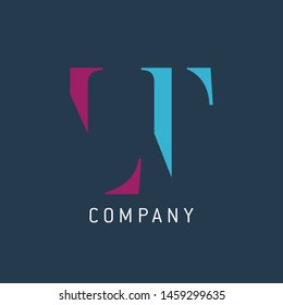 LT logo template. Monogram. Company logo. Letters L and T.