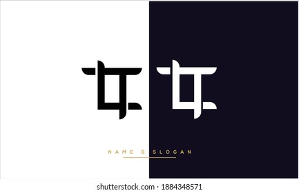 LT ,TL  Abstract Letters Logo monogram
