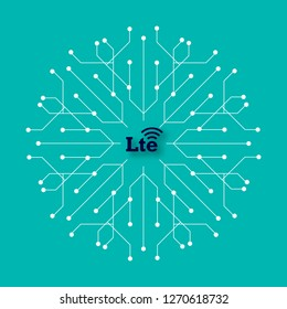 LTE new wireless internet wifi connection - Lte new generation mobile network icon