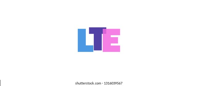 "LTE word concept. ""LTE"" on white background. Use for cover, banner, blog."