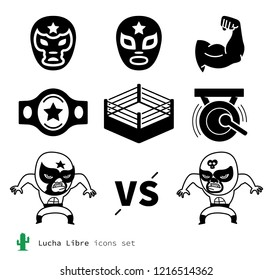 Lucha Libre icons set