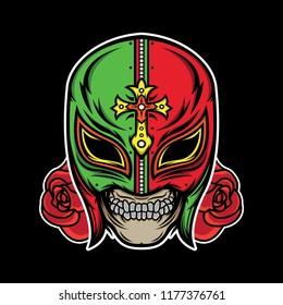 lucha libre tattoo, vector EPS 10