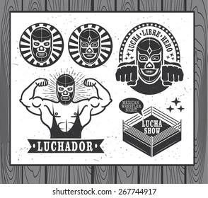 Lucha Libre vintage set