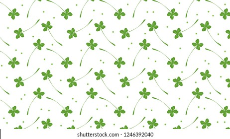 luck leaf pattern vector. wallpaper. background.