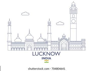 Lucknow Linear City Skyline, India