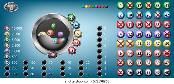 Lucky balls bingo