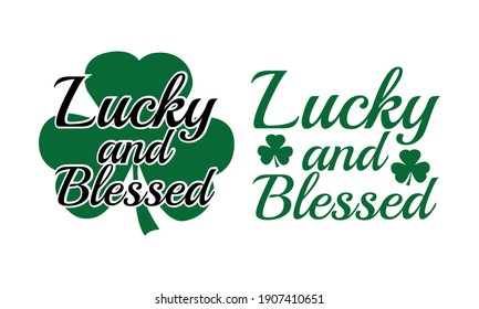 Lucky Blessed Patrick's Vector and Clip Art