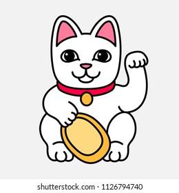 Lucky cat. Vector illustration
