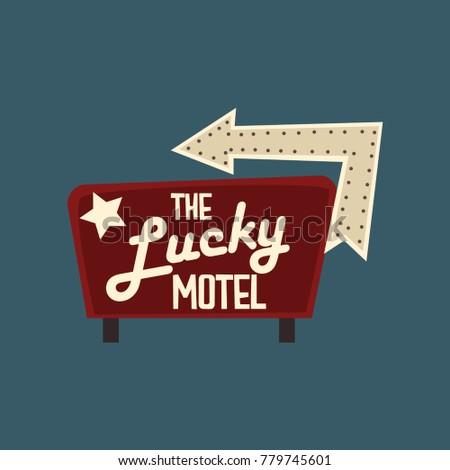 The Lucky motel retro