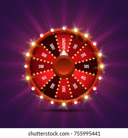 Lucky roulette. Vector illustration.