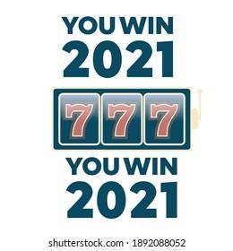Lucky seven jackpot. Casino vector sign set. Slot machine vector