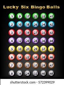 Lucky six bingo balls