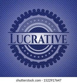 Lucrative denim background. Vector Illustration. Detailed.