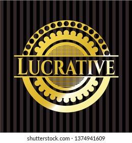 Lucrative gold badge or emblem