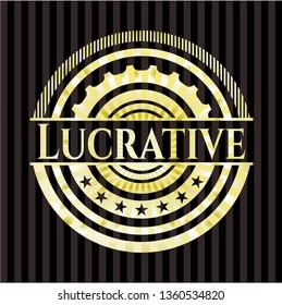 Lucrative gold shiny badge
