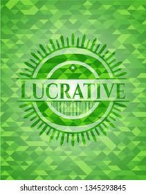 Lucrative green mosaic emblem