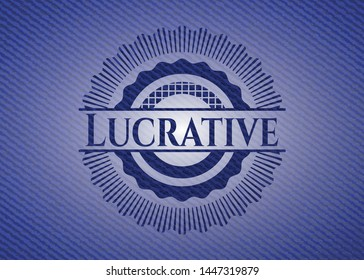Lucrative with jean texture. Vector Illustration. Detailed.