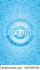 Lucrative light blue mosaic emblem