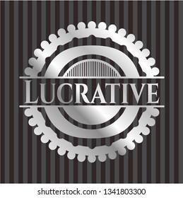 Lucrative silvery emblem