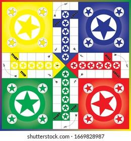 Ludo board game, ready to print, famous ludo board game design.