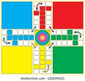 Ludo Front Design Structure - vector