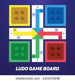 Ludo Game Board for Mobile Or Web Game
