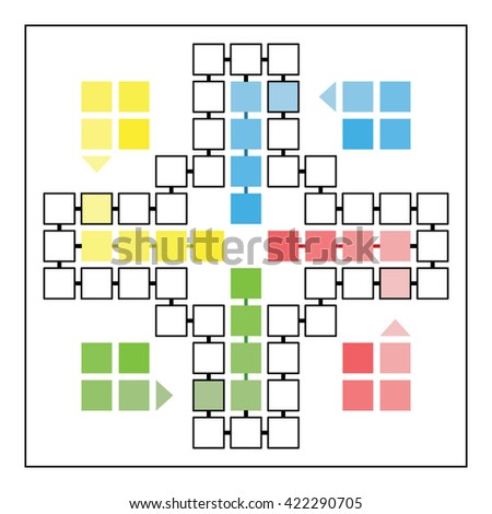 ludo game board vector template family stock vector royalty free