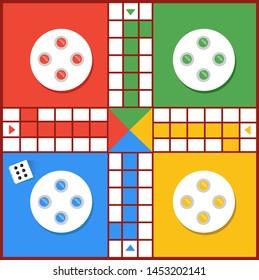 Ludo game vector illustration design