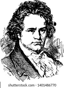 Ludwig van Beethoven 1770 to 1827 he was a German composer and pianist famous for his compositions 9 symphonies 5 piano concertos 1 violin concerto 32 piano sonatas 16 string quartets vintage