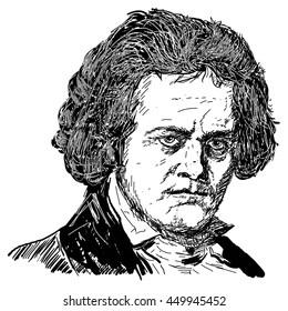 Ludwig van Beethoven - drawing