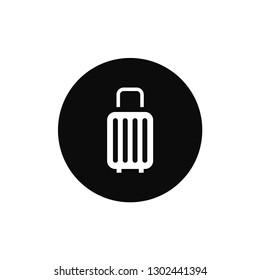 Luggage rounded icon