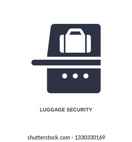 luggage security icon. Simple element illustration from airport terminal concept. luggage security editable symbol design on white background. Can be use for web and mobile.