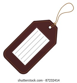 Luggage tag with copy space over white background